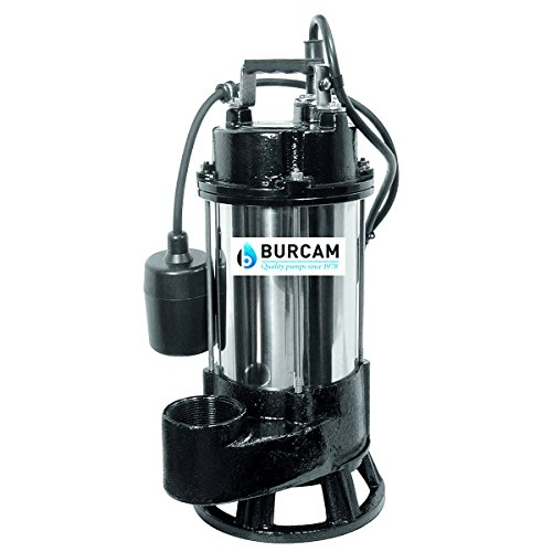 BURCAM 400416T 3/4 HP Heavy Duty Stainless Steel Sewage Grinder Pump