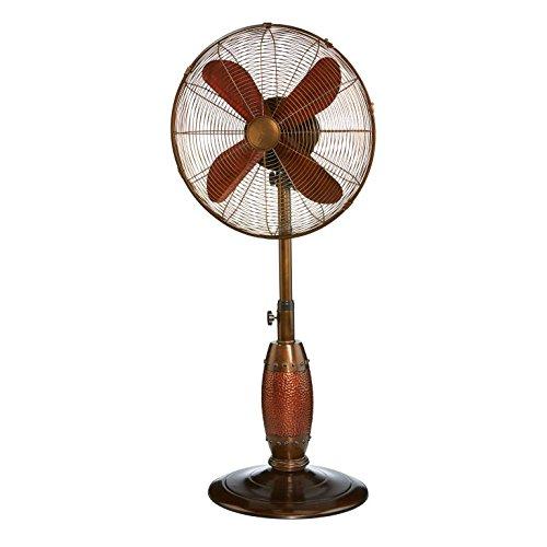 DecoBREEZE Adjustable Height Oscillating Outdoor Pedestal Fan, 18 In, Coppertino