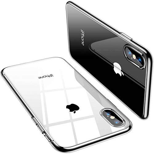 TORRAS Crystal Clear iPhone Xs Max Case, [Anti-Yellowing] Soft Silicone Shockproof TPU Slim Thin Protective Phone Cover Case for iPhone Xs Max 6.5 inch - Crystal Clear