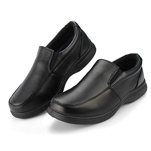 Hawkwell Boy's School Uniform Dress Shoe(Little Kid), Black PU, 4 M US