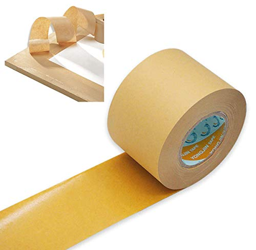 2'' inch (5cm) Wide, 55 Yd (50m) Lenth Self Adhesive Backing Tape Picture Framing Canvas Craft Brown Kraft