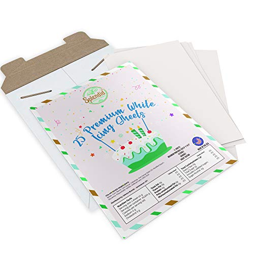 Premium Frosting Sheets - 25 Count - 8.5' x 11' - Edible Paper - Icing Sheets - by Splendid Sensations