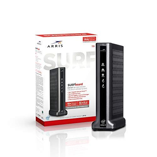 ARRIS Surfboard T25 DOCSIS 3.1 Gigabit Cable Modem, Certified for Xfinity Internet & Voice (Black)