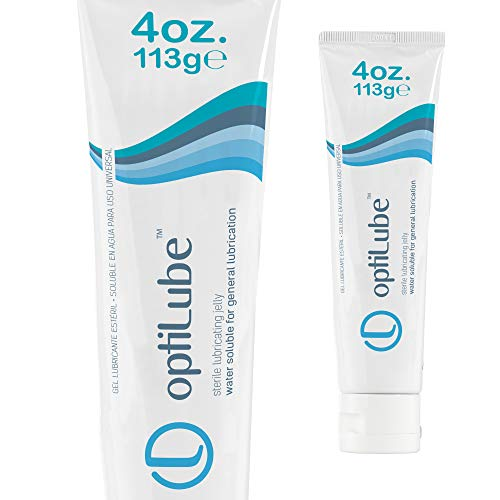 OptiLube Tubes - Sterile Lubricating Jelly in 2oz and 4oz Tubes, Water Soluble with Easy to Use Flip Cap (4oz Tube - Box of 1)