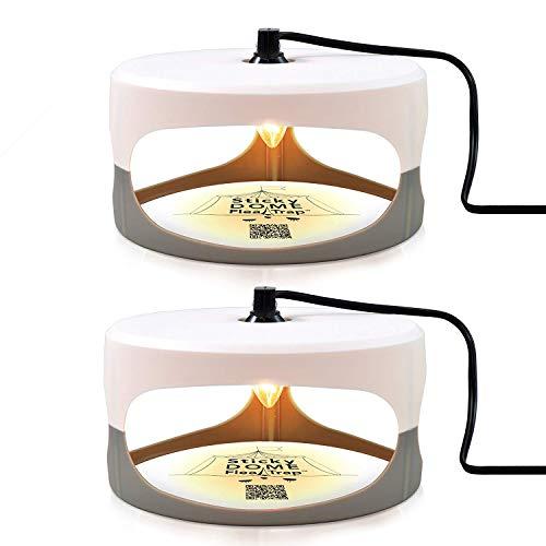 Aspectek HR2311X2 Sticky Dome flea Insect Trap, 2 Pack, White