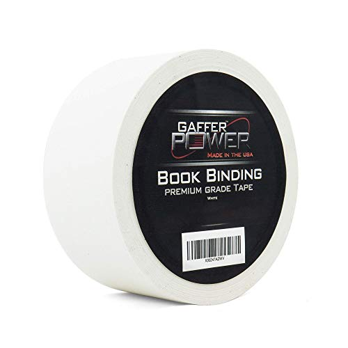 Bookbinding Tape by Gaffer Power, White Cloth Book Repair Tape Safe Cloth Library Book Hinging Repair Tape, Made in The USA, Acid Free and Archival Safe