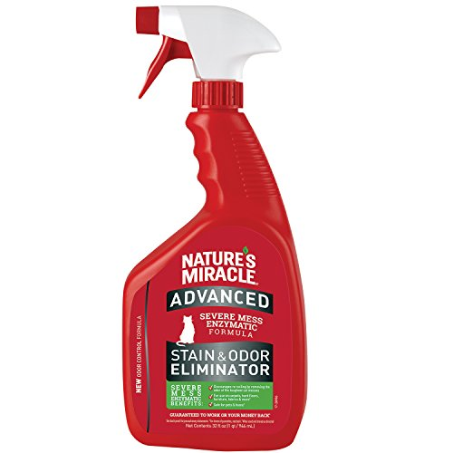 Natures Miracle P-96992 Advanced Stain and Odor Eliminator Cat, For Severe Cat Messes, Updated Formula,32 Oz Spray