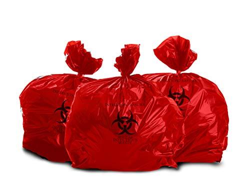 Oakridge Heavy Duty 40 Gallon Biohazard Waste Disposal Bags (Roll of 10) - Hospital Grade