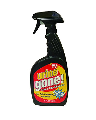 Urine Gone Stain & Odor Eliminator: Professional Strength Fast-Acting Enzyme-Based Solution, Instantly Penetrates and Neutralizes into the Fibers of a Carpet,  Stops Pets from Remarking