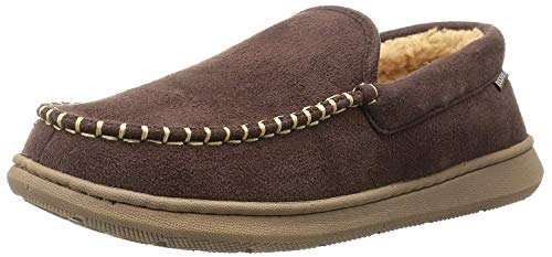 Dockers Men's Douglas Ultra-Light Moccasin Premium Slippers, Brown, 10 M US