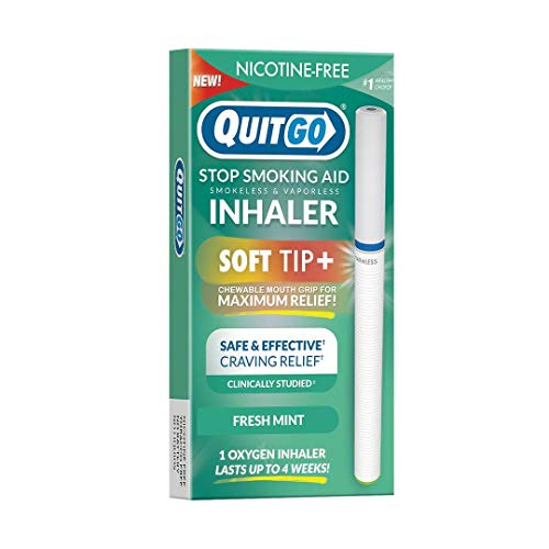 Quit Smoking Aid Oxygen Inhaler + Soft Tip Chewable Filter to Help Curb Cravings, Nicotine Free Non-Addictive Stop Smoking Support & Oral Fixation Relief (1 Pack, Fresh Mint)