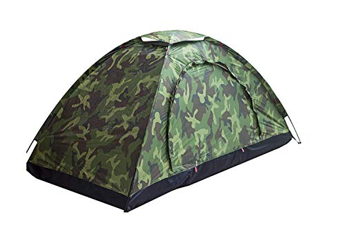 Sutekus Single Tent Camouflage Patterns Camping Tent One Person Tent for Camping Hiking Outdoor Equipment