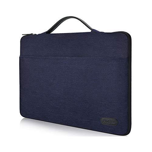 ProCase 14-15.6 Inch Laptop Sleeve Case Protective Bag, Ultrabook Notebook Carrying Case Handbag for MacBook Pro 16'/14' 15' 15.6' Dell Lenovo HP Asus Acer Samsung Sony Chromebook Computer -Darkblue
