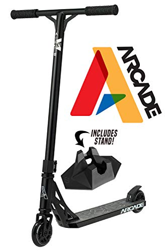 Arcade Pro Scooters - Stunt Scooter for Kids 8 Years and Up - Perfect for Beginners Boys and Girls - Best Trick Scooter for BMX Freestyle Tricks (Black/Black)