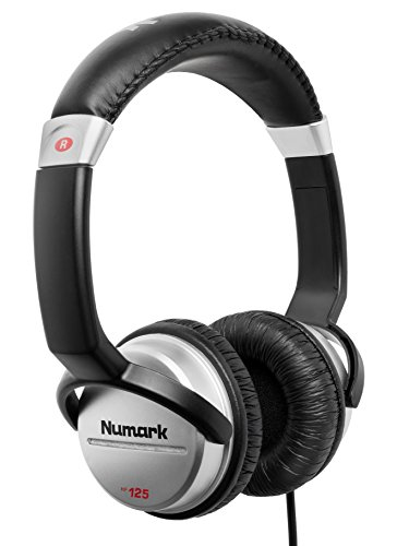 Numark HF125   Ultra-Portable Professional DJ Headphones With 6ft Cable, 40mm Drivers for Extended Response & Closed Back Design for Superior Isolation