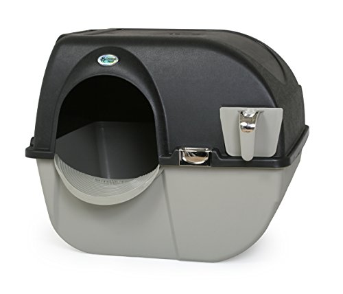 Omega Paw Elite Self Cleaning Roll 'n Clean Litter Box, Midnight Black, Large