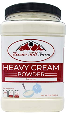 Heavy Cream Powder Jar, Hoosier Hill Farm (2 lbs) Gluten Free and Hormone Free.