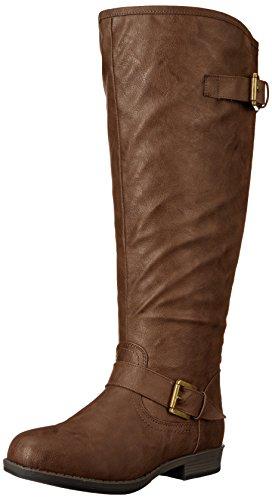 Brinley Co Women's Durango/ Spokane-xwc Riding Boot, Brown Extra Wide Calf, 9.5 M US