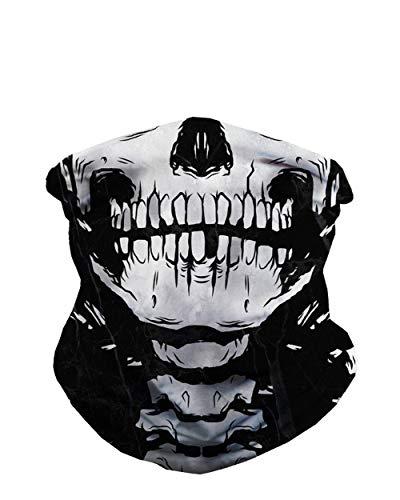 iHeartRaves Skeleton X-Ray Skull Neck Gaiter Face Scarf Mask Bandana Gator