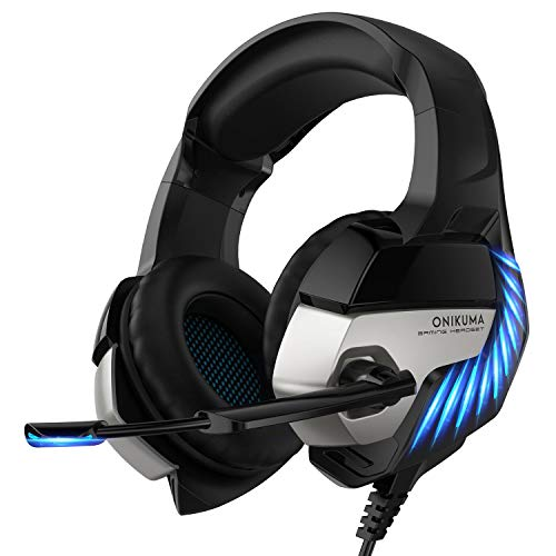 Gaming Headset-Xbox K5PRO One Headset PS4 Headset with Noise-canceling Microphone and 7.1 Surround Sound, Gaming Headset for PS4, Xbox One, PC, Game Console, Nintendo 64 (Not Including Adapter)