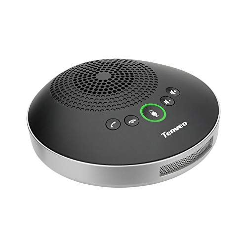 Tenveo A2000B Bluetooth Conference Speakerphone - Conference Call Speaker - Conference Microphone for skype Zoom Webinar 8-10 People Business Conference
