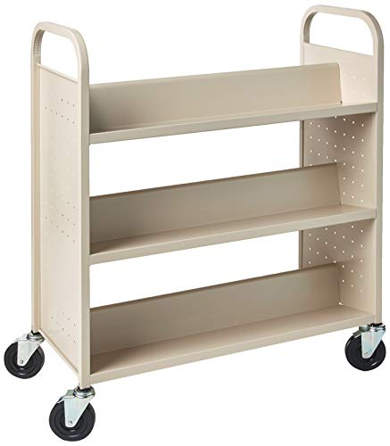 Lorell Double-Sided Book Cart