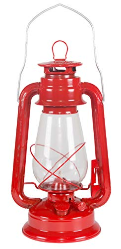Stansport Hurricane High Oil Lantern (Red, 12-Inch)