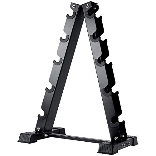 Akyen A-Frame Dumbbell Rack Stand Only-5 Tier Weight Rack for Dumbbells (570 Pounds Weight Capacity, 2020 Version)