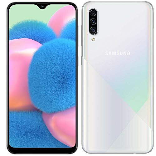 Samsung Galaxy A30S w/On-Screen Fingerprint (64GB, 4GB) 6.4', Triple Camera, Dual SIM GSM Unlocked A307G/DS - US + Global 4G LTE International Model (64GB + 64GB SD + Case Bundle) (White)