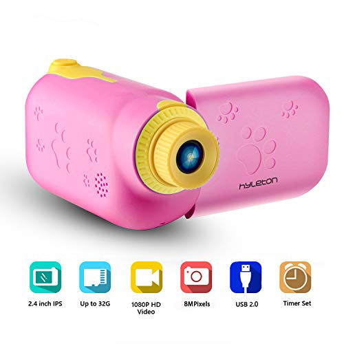 Kids Video Camera for Girls Gift,hyleton 1080P FHD Digital Kids Camera Camcorder Video Recorder DV with 2.4' Screen for Age 3-10