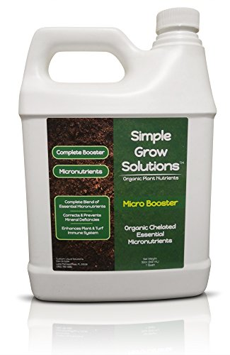 Pure Organic Micronutrient Booster- Complete Plant & Turf Nutrients- Simple Grow Solutions- Natural Garden & Lawn Fertilizer- Grower, Gardener- Liquid Food for Grass, Tomatoes, Flowers, Vegetables