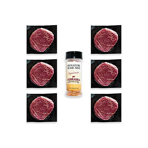 Angus Petite Filet Mignon by Nebraska Star Beef -Prestige- Hand Cut and Trimmed - Gourmet Steak Delivered to Your Home, 6 pack steak bundle
