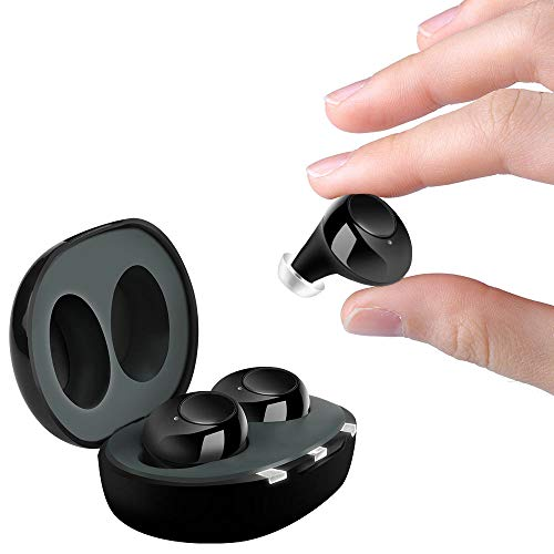 Aldmfront Hearing Amplifier, with Digital Noise Reduction Rechargeable,for Adults and Seniors,(Black)
