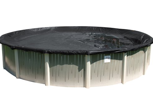 Buffalo Blizzard Economy Winter Cover for 24-Foot Round Above-Ground Swimming Pools | Blue/Black Reversible | 3-Foot Additional Material for Secure Installation