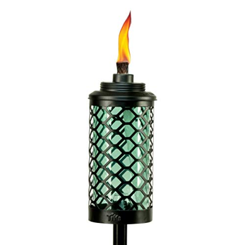 TIKI Brand Glass Honeycomb Torch, 65 Inches, Blue