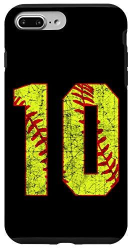 iPhone 7 Plus/8 Plus Softball #10 Fast Pitch Love Softball Mom Favorite Player Case