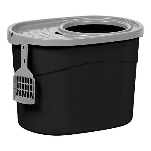 IRIS USA Top Entry Cat Litter Box with Cat Litter Scoop TECL-20