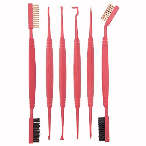 Real Avid Accu-Grip Picks & Brushes - 12 Picks and Brushes, Ergonomic Grip