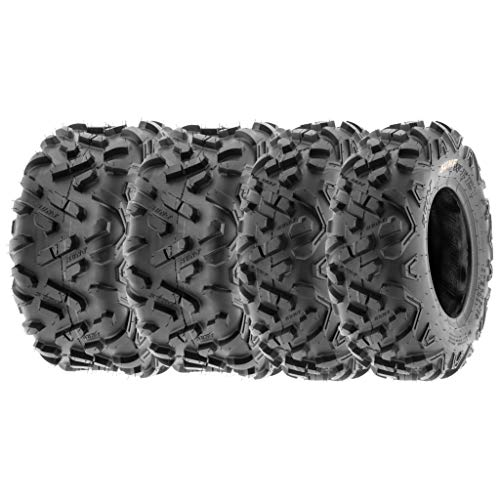 SunF 145/70-6 16x8-7 ATV UTV Tires 6 PR Tubeless A051 POWER II [Bundle]