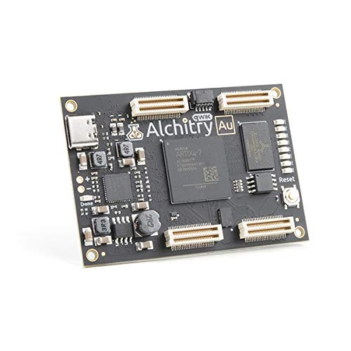 Alchitry Au FPGA Development Board (Xilinx Artix 7) - Experience The Next Step in Programming with Electronics - Qwiic Connector for Easy I2C Integration - Artix 7 XC7A35T-1C