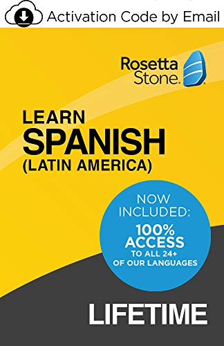 Rosetta Stone: Learn Spanish (Latin America) and UNLIMITED LANGUAGES with Lifetime Access on iOS, Android, PC, and Mac [Activation Code by Email]