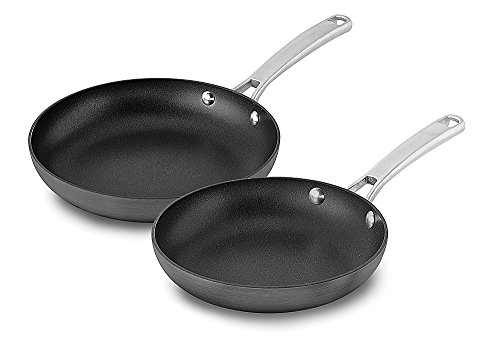 Calphalon 2 Piece Classic Nonstick Frying Pan Set, Grey