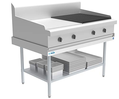 KoolMore EQT-163048 16 Gauge Stainless Steel Commercial Equipment Stand - 30 x 48 Heavy Duty Griddle Stand with Undershelf