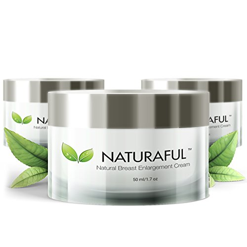 NATURAFUL - (3 JAR) TOP RATED Breast Enhancement Cream - Natural Breast Enlargement, Firming and Lifting Cream | Trusted by Over 100,000 Users & Includes Handbook | $232 Value Bundle