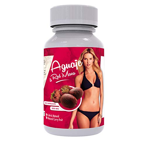Curves Capsules for Women - Natural Supplement - 1000 mg per Serving - Butt and Breast Enhancement Pills - Aguaje and Red Maca Root from Peru - Pdf Guide - Sikyriah