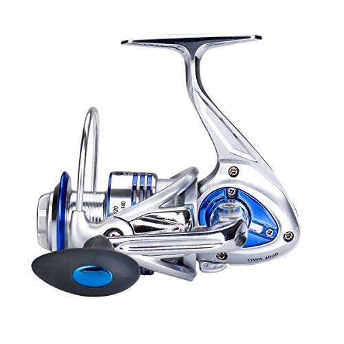 Diwa Spinning Fishing Reels for Saltwater Freshwater 7000 Spools Ultra Smooth Ultralight Powerful Trout Bass Carp Gear 13+1 Stainless Ball Bearings Metal Body Ice Fishing Reels (7000)