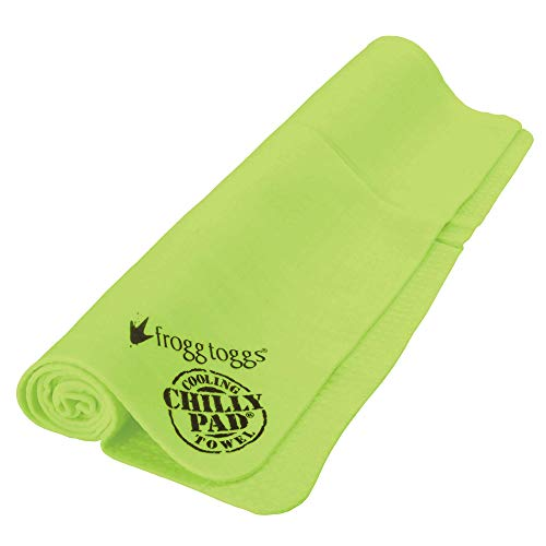 Frogg Toggs Chilly Pad Cooling Towel, HiVis Lime Green, Size 33' x 13'