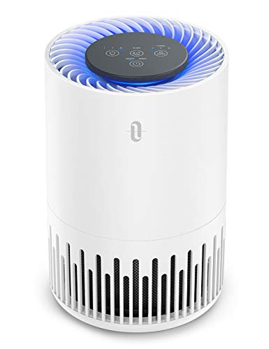 TaoTronics HEPA Air Purifier for Home, Allergens Smoke Pollen Pets Hair, Desktop Air Cleaner with True HEPA Filter, Sleep Mode, Night Light, Odors Dust, Bedroom Office.