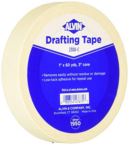 Alvin 2300-C Drafting Tape, 1' x 60 yd