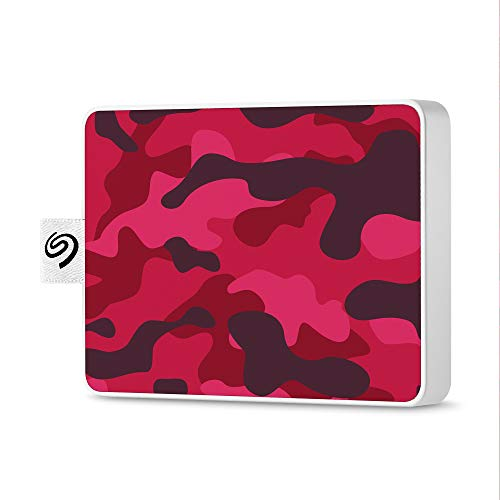 Seagate One Touch SSD 500GB External Solid State Drive Portable – Camo Magenta, USB 3.0 for PC Laptop and Mac, 1yr Mylio Create, 2 months Adobe CC Photography (STJE500405)